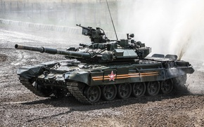 Picture dirt, tank, polygon, armor, T-90