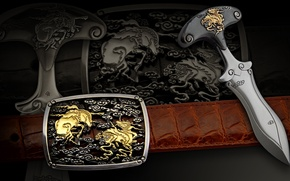 Wallpaper edged weapons, buckle, Oven, belt, strap