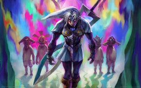 Picture night, weapons, fiction, elf, heroes, game wallpapers, Legend of Zelda: Majora's Mask