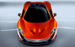 Picture McLaren, Auto, Machine, Orange, The hood, Car, The view from the top, Supercar