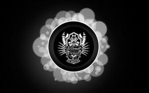 Picture Music, Black, Logo, Minimalism, the Chemodan, Russian Underground