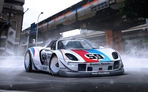 Picture Porsche, 918, Tuning, Supercar, RWB, Rough, World, Term, by Khyzyl Saleem
