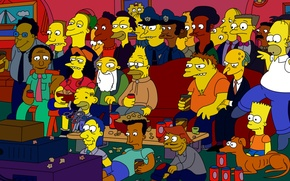 Picture cartoon, the simpsons, Springfield