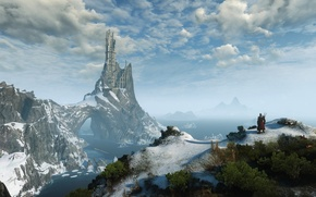 Picture castle, panorama, The Witcher, The Witcher 3:Wild Hunt