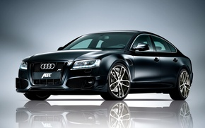 Picture Audi, black, tuning, ABBOT, Sportback, on a gray background, photo auto
