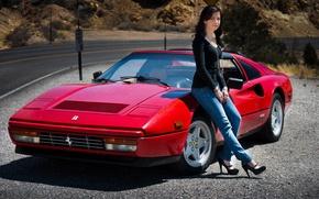 Picture girl, 1986, Ferrari 328 GTS