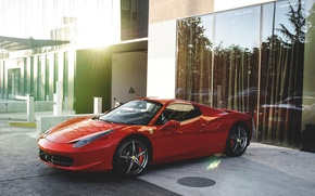 Picture Ferrari, Red, 458, Spyder
