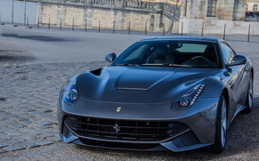Picture Ferrari, stone, Berlinetta, F12, paving