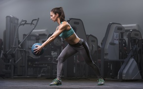 Picture fitness, ball, workout