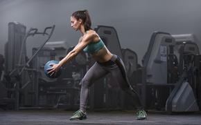 Wallpaper fitness, ball, workout