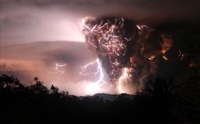 Picture lightning, The storm, vortex