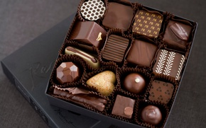 Picture white, box, chocolate, candy, sweets, chocolate, candy, milk