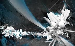 Wallpaper the explosion, techno, dark