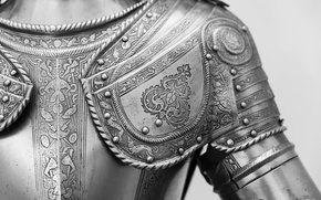 Picture metal, pattern, armor, knight