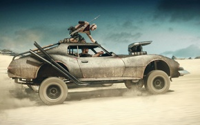 Picture sand, car, desert, supercharger, car, auto, Mad Max, Fury Road, Mad Max: fury Road, Max …