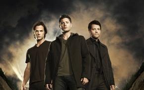 Picture actor, Supernatural, Jensen Ackles, Supernatural, Sam, Dean, Jensen Ackles, Castiel, Misha Collins, Misha Collins, over ...