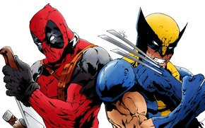 Picture Wolverine, Wolverine, Deadpool, Marvel, Deadpool, By Echudin