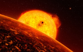 Picture star, exoplanet, Corot-7b