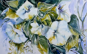 Picture flowers, style, picture, watercolor