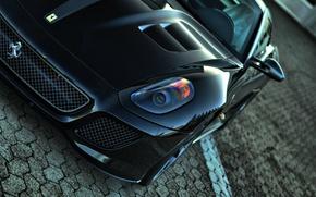 Picture black, Ferrari, Ferrari, black, 599, gto, TRP