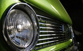 Wallpaper headlight, green, penny, VAZ 2101
