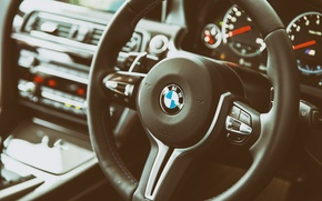 Picture BMW, the wheel, salon, Interior