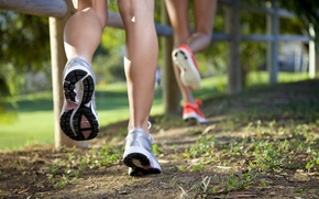 Wallpaper legs, shoes, outdoor, running, physical activity, jogging