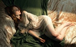 Wallpaper girl, sleep, morning, Crisalida