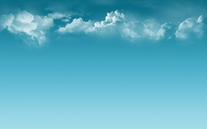 Wallpaper clouds, calm, Minimalism, blue, peace