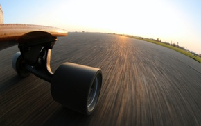 Wallpaper speed, skateboard, extreme perspective