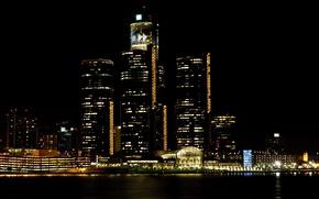 Picture city, the city, USA, Detroit, Michigan