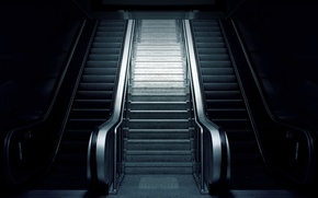 Picture metal, elegance, escalators