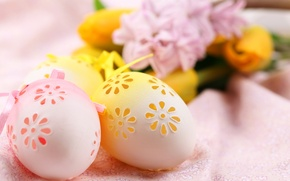 Picture flowers, eggs, Easter, Easter, Holidays, Eggs