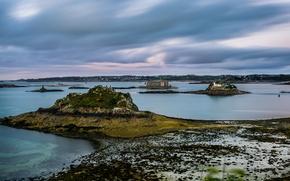 Picture sea, landscape, castle, shore, lighthouse, island, Wallpaper from lolita777