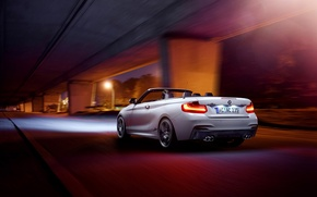 Picture BMW, Germany, White, Cabrio, Rear, M235i, AC-Schnitzer