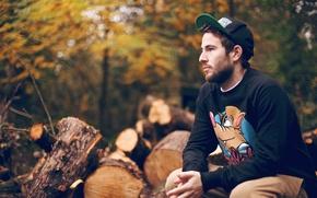 Picture Alex, male, mood, autumn