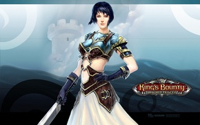 Picture girl, kings bounty, armored princess