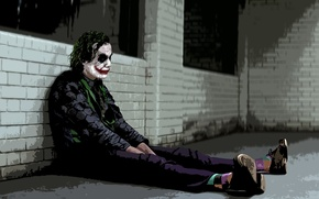 Picture Joker, the dark knight, Heath Ledger