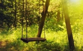 Picture summer, light, swing