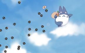 Picture my neighbor Totoro, totoro, my neighbour totoro, blue totoro