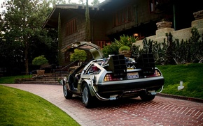 Wallpaper Back to the future, delorean dmc-12