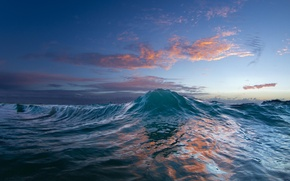 Picture water, sunset, nature, the ocean, wave