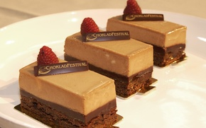 Wallpaper raspberry, chocolate, cake, sweet
