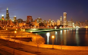 Picture city, the city, Chicago, USA, Chicago, Illinois