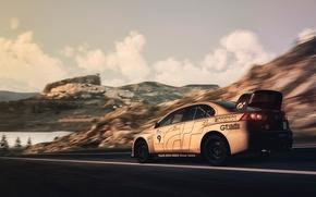 Picture speed, track, Mitsubishi, evo x