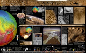 Picture sea, earth, desert, planet, crater, Mars, the ground, Kon'on