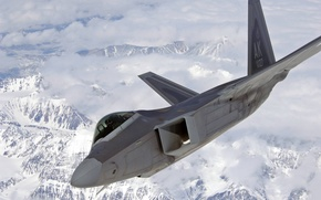 Picture flight, fighter, generation, fifth, unobtrusive, multipurpose, F-22 Raptor, over Alaska