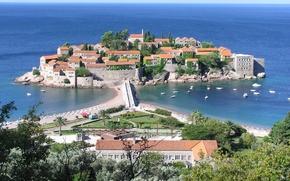 Picture stay, journey, tourism, Adriatica, island-hotel, SV.Stefan, Montenegro