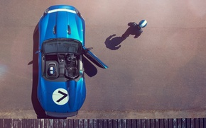 Picture machine, Concept, blue, Jaguar, the door, driver, pilot, the view from the top, Project 7