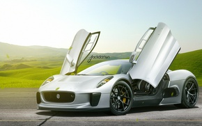 Picture Jaguar, Auto, Jaguar, Supercar, Jackdarton, C-X75
